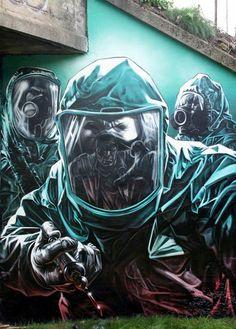 Une sélection des créations street art de SMUG ONE, un artiste écossais talentueux qui recouvre les murs de magnifiques personnages et visages au réalisme i