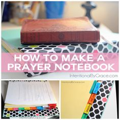 how to make a prayer notebook collage