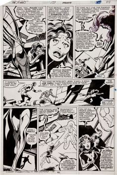 A page from Uncanny X-Men's 'Dark Phoenix Saga' has sold at auction for $65,000.    John Byrne and Terry Austin's iconic page features the tearful farewell Jean Grey gives to Cyclops on the moon before her imminent death.