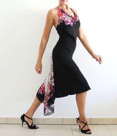 Black Argentine Tango Dress Social Dance Milonga Party