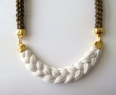 rope necklace   statement necklace in by beYOUtifulhandmade $39.00