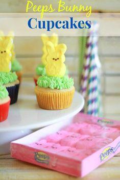 easter peeps bunny cupcakes