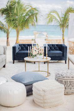 Simple Beach Wedding, Beach Wedding Reception, Our Wedding Day, Dream Wedding, Wedding Bells, Wedding Ideas, Destination Wedding Decor, Destination Wedding Inspiration, Tall Wedding Centerpieces