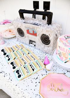 Time travel back to the with this hip, hop themed second birthday bash filled with cheeky decor and pastels that pop. 2nd Birthday Party For Girl, Fruit Birthday, Second Birthday Ideas, 90th Birthday Parties, Girl Birthday Themes, Frozen Birthday Party, Hip Hop Party, 80s Party, Bubble Guppies Birthday