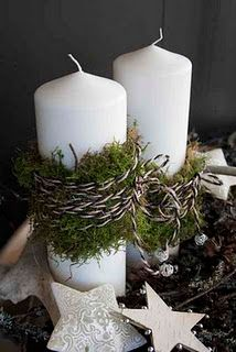 really like the white, black, and earthy green for christmas decor