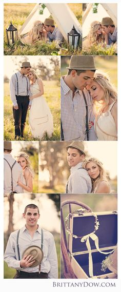 Boho Vintage Southern California Wedding Inspiration | Brittany Dow Photography