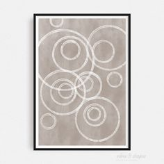 Art Print MAGIC CIRCLES BEIGE 06 Form Poster, All Poster, Shape Posters, Graphic Design Posters, Magical Home, Cool Shapes, Magic Circle, Modern Art Prints, Typography Prints