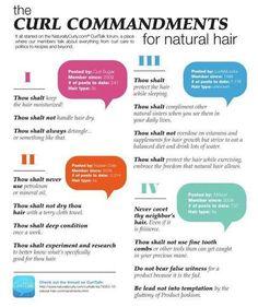 Natural Hair commandments!