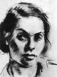 """Gela Seksztajn (1907-1942) Self-Portrait. Seksztajn lived and painted in the Warsaw ghetto. In hery will, which was preserved along with her watercolors in the underground archives of the Warsaw ghetto, she wrote, """"...I am now standing at the boundary between life and death. I already know for certain that I must die and that is why I want to bid farewell to my friends and to my work. She died in Treblinka in August of 1942. Photo credit: Meczenstwo Walka, Zaglada Zydów Polsce 1939-1945…"""