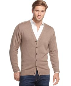 0b366164a Tricots St. Raphael Solid V-Neck Cardigan - Sweaters - Men - Macy s - 20