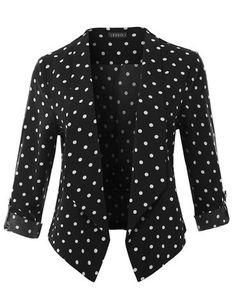 womens open front blazer, womens draped blazer, 3 4 sleeve blazer for women, cropped blazer jacket, formal blazer Long Blazer Jacket, Cropped Denim Jacket, Anorak Jacket, Ripped Denim, Distressed Denim, Lace Bralette Top, Blazers, Midi Skater Skirt, Printed Blazer
