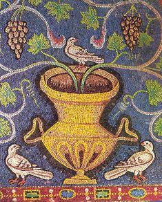 Mosaic Tile Art, Mosaic Birds, Mosaic Artwork, Mosaic Glass, Roman History, Art History, Ravenna Mosaics, Byzantine Art, Roman Art