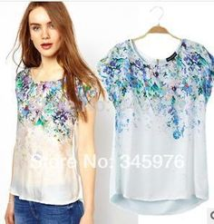 imagenes de blusas en sedas estampadas 2015 - Buscar con Google