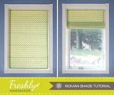 Freshly Handmade: Roman Shade Tutorial