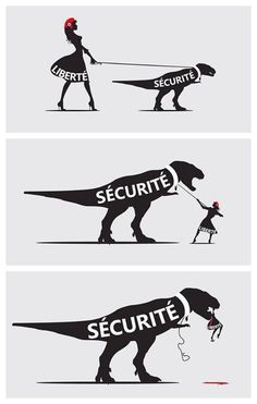 Liberty and security can only coexist if they are in balance. If the preference is for security, then forget liberty. Satire, Illustrations, Illustration Art, Image Citation, Art Watch, Political Cartoons, Best Funny Pictures, Funny Pics, Art Quotes