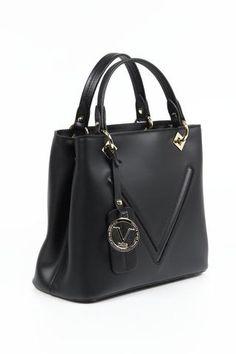 Versace 19.69 Abbigliamento Sportivo Ladies Short Top Handle Handbag - V004 RUGA BLACK
