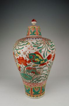 Chinese Wanli five color Qinglong heavily potted large by Ritzco, $300.00