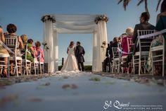 boda en blanco y rosa