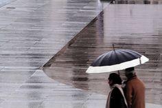 Piazza Vittoria - Brescia in una giornata di pioggia