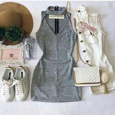 Lindo!!! Sexy Dresses, Cute Dresses, Casual Dresses, Fashion Dresses, Nike Outfits, Trendy Outfits, Look Fashion, Girl Fashion, Cute Vintage Outfits