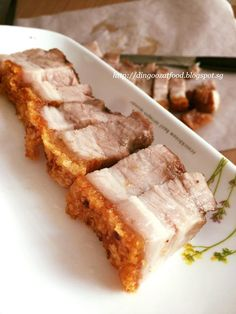 Easy Crispy Roast Pork Belly aka Siew Yuk/ Sio Bak recipe, with step by step tutorial for home cooks to follow to make this at home.