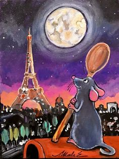 "Ratatouille Inspired ""Painting On De Bayou"" Painting Classes Offered At Port Orleans - Malerei - Disney Disney Canvas Paintings, Disney Canvas Art, Simple Canvas Paintings, Art Disney, Mini Canvas Art, Cute Paintings, Disney Crafts, Cartoon Painting, Diy Painting"