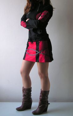 Robe Mini chinoise coton Tunique robe manches par manaKAmana