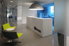 Forcea Anderlecht Reception Desk, office design by buroproject.be