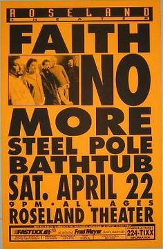 Faith No More...one of my all time favourite bands!