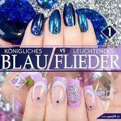 #royal   #blue   #flieder   #nails #trend   Königliches Blau oder leuchtendes Flieder? Für welche Trendfarbe entscheidet Ihr Euch? Eure Martina