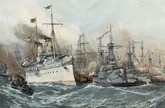 Willy Stöwer - Manövergeschwader der deutschen Flotte
