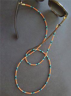 Sunglass Lanyard, Glasses Chain Beaded, Glasses Chain, Eyeglass Chain, Sunglass … – Etsy – Join in the world of pin Bead Jewellery, Beaded Jewelry, Jewelery, Beaded Bracelets, Beaded Anklets, Beaded Choker Necklace, Diy Necklace, Necklace Designs, Necklaces