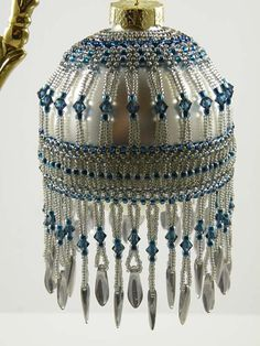 Beading Tutorial Art Deco Ornament by KellyWiese on Etsy