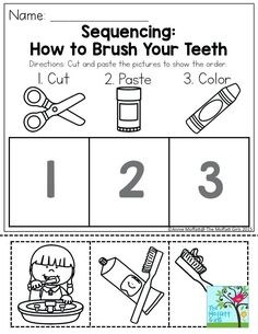 Sequencing Worksheets, Story Sequencing, Kindergarten Worksheets, Worksheets For Kids, Kindergarten Learning, Printable Worksheets, Free Printables, Sequencing Cards, Teaching Kids