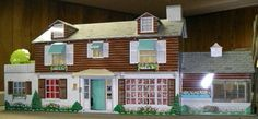 Vintage Marx dollhouse..that's a big house! .....Rick Maccione-Dollhouse Builder www.dollhousemansions.com