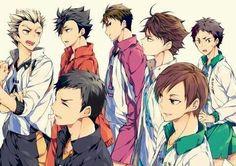 The way Ushijima is looking at Oikawa 😏 also bless Moniwa. Kuroo Tetsurou, Akaashi Keiji, Kageyama, Hinata, Wakatoshi Ushijima, Haikyuu Ships, Haikyuu Fanart, Haikyuu Anime, Iwaoi
