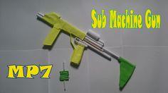 How to Make a Paper MP7 Sub Machine Gun That Shoots - Homemade MP7 Sub M...