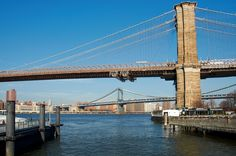 Brooklyn Bridge and Manhattan Bridge. New York. Photo by Andy New.