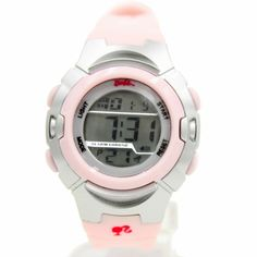 DW435C Chronograph Date Alarm Pink Bezel Water Resist Ladies Women Digital Watch