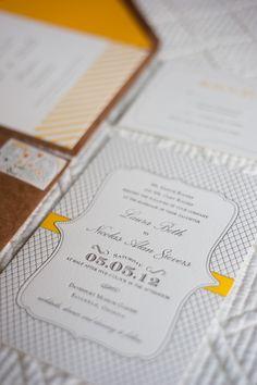 Patterned Wedding Stationary