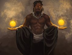 Men of Color In Fantasy Art — juliedillon:   Here's a bunch of new stuff I did...