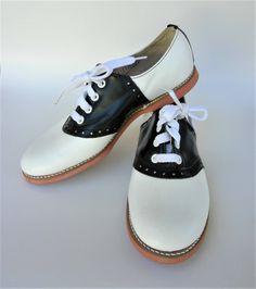 b62be92d0b665 NOS - Willits Black White Leather Ladies Saddle Oxfords - NOS - Size 6 1 2.  Etsy. Saddle Oxfords