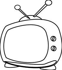 Resultado de imagen para watching tv black and white drawings
