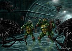 TMNT vs. Aliens by Brian J Murphy
