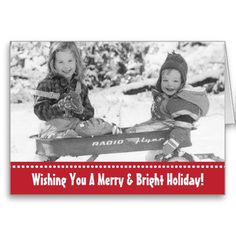 Vintage Holiday Wagon Kids Greeting Card