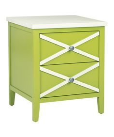 Loving this Lime Green Rosalee Double Drawer Side Table on #zulily! #zulilyfinds