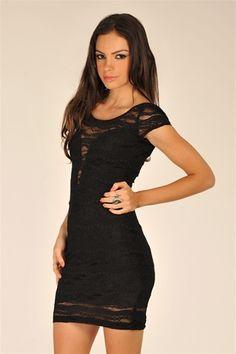 Lovely Lace Dress - Black