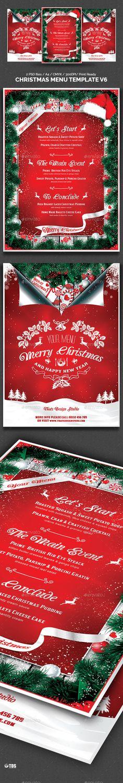 Christmas Menu Template V3 Christmas menus, Templates and Christmas - christmas menu word template