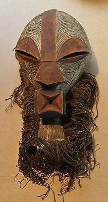 BEAUTIFUL!!! CONGO old african mask ancien masque d'afrique SONGYE africa afrika kongo maske