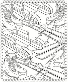 Creative Haven WinterScapes Coloring Book - Dover Publications Dover Coloring Pages, Printable Coloring Pages, Coloring Pages For Kids, Coloring Sheets, Free Coloring, Zentangle, Vive Le Sport, Theme Sport, Creative Haven Coloring Books